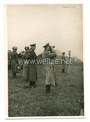 III. Reich Foto, Adolf Hitler undWilhelm Keitel bei einem Manöver 1936