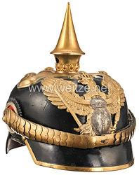 Preußen Pickelhaube für einen Fähnrich im 1. Brandenburgischen Dragoner-Regiment Nr. 2
