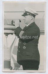 Handelsmarine Foto, Kapitän mit U-Boot Kriegsabzeichen