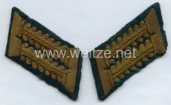 Wehrmacht Heer Paar Kragenspiegel für einen WH-Beamten im gehobenen Dienst beim OKH (Oberkommando des Heeres)