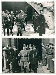 III. Reich Fotogruppe, RitterkreuzträgerWalter Nowotny und Angehörige der NSDAP in Barcelona