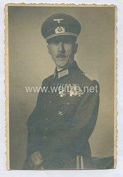 Wehrmacht Heer Portraitfoto, Major mit großer Ordensspange