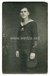 1. Weltkrieg Foto eines Matrosen und Spielmann (Musiker)