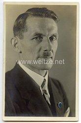 """III. Reich - Propaganda-Postkarte - """" Peter Gemeinder """" ( Gauleiter von Hessen-Darmstadt )"""