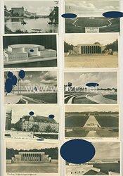 III. Reich- Konvolut von 10 Propaganda-Postkarten von Nürnberg der Stadt der Reichsparteitage