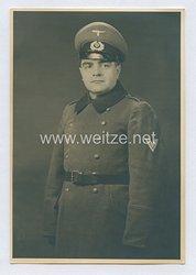Wehrmacht Heer Foto, Obergefreiter mit Mantel
