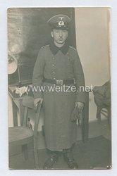 Wehrmacht Heer Foto, Soldat der Infanterie mit Mantel