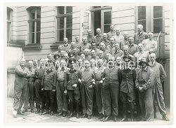 III. Reich Gruppenfoto, Angehöriger des Reichsluftschutzbund (RLB)