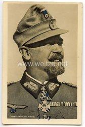 Heer - Originalunterschrift von Ritterkreuzträger Generalleutnant Julius Ringel