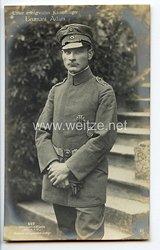"Fliegerei 1. Weltkrieg - Fotopostkarte  - Deutsche Fliegerhelden "" Leutnant Adam """