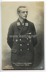 "Fliegerei 1. Weltkrieg - Fotopostkarte  - Deutsche Fliegerhelden "" Seekampfflieger Flugobermaat Ulbrich """