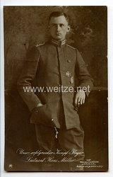 "Fliegerei 1. Weltkrieg - Fotopostkarte  - Deutsche Fliegerhelden "" Leutnant Hans Müller """
