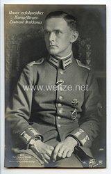 """Fliegerei 1. Weltkrieg - Fotopostkarte  - Deutsche Fliegerhelden """" Leutnant Baldamus """""""