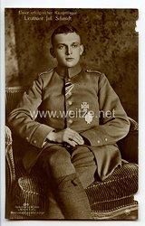 """Fliegerei 1. Weltkrieg - Fotopostkarte  - Deutsche Fliegerhelden """" Leutnant Jul. Schmidt """""""
