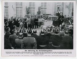 """III. Reich - gedrucktes Pressefoto """" Am Jahrestag des Dreimächtepaktes """" 28.9.1942"""