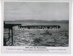 """III. Reich - gedrucktes Pressefoto """" Dicht unter der Murmanküste """" 28.9.1942"""