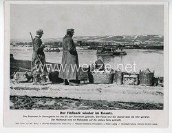 """III. Reich - gedrucktes Pressefoto """" Der Floßsack wieder im Einsatz """" 27.4.1942"""