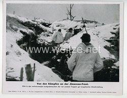 """III. Reich - gedrucktes Pressefoto """" Von den Kämpfen an der Jlmensee - Front """" 14.12.1942"""