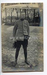 """Fliegerei 1. Weltkrieg - Fotopostkarte  - Deutsche Fliegerhelden """" Leutnant Schäfer """""""