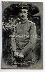 """Fliegerei 1. Weltkrieg - Fotopostkarte  - Deutsche Fliegerhelden """" Leutnant Höhndorf """""""