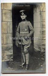 "Fliegerei 1. Weltkrieg - Fotopostkarte  - Deutsche Fliegerhelden "" Oberleutnant Dostler """