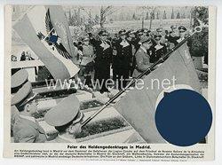 """III. Reich - gedrucktes Pressefoto """" Feier des Heldengedenktages in Madrid """""""