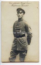 """Fliegerei 1. Weltkrieg - Fotopostkarte  - Deutsche Fliegerhelden """" Hauptmann Zander """""""