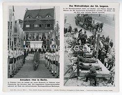"""III. Reich - gedrucktes Pressefoto """" Anrudern 1944 in Berlin. Das Wehrschießen der SA. begann """" 22.4.1944"""