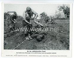 """III. Reich - gedrucktes Pressefoto """" An der süditalienischen Front """""""