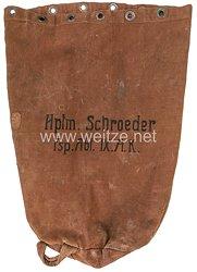 """Erster Weltkrieg """"Seesack""""/Kleidersack für den Hauptmann Schroeder in der Fernsprechabteilung des IX. Armeekorps"""