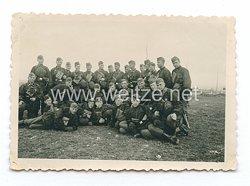 Waffen-SS Foto, SS-Soldaten mit Wendetarnhemd
