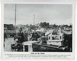 """III. Reich - gedrucktes Pressefoto """" Volk auf der Flucht """" 3.10.1944"""