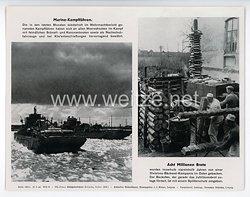 """III. Reich - gedrucktes Pressefoto """" Marine - Kampffähren. Acht Millionen Brote """" 27.6.1944"""