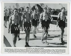 """III. Reich - gedrucktes Pressefoto """" Sie treten an zum Schutz ihrer Heimat """" 15.8.1944"""