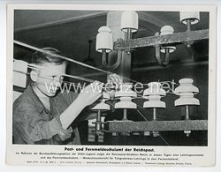 """III. Reich - gedrucktes Pressefoto """" Post- und Fernmeldeschulamt der Reichspost """" 29.8.1944"""