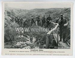 "III. Reich - gedrucktes Pressefoto "" Kampfraum Italien "" 12.8.1944"