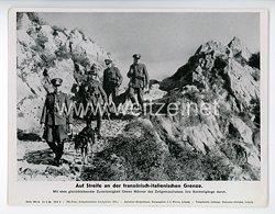 """III. Reich - gedrucktes Pressefoto """" Auf Streife an der französisch - italienischen Grenze """" 20.6.1944"""