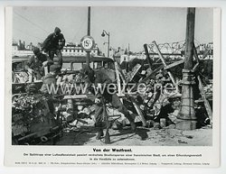 """III. Reich - gedrucktes Pressefoto """" Von der Westfront """" 29.9.1944"""