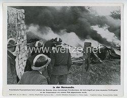 """III. Reich - gedrucktes Pressefoto """" In der Normandie """" 21.7.1944"""