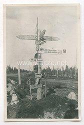 Wehrmacht Heer Foto, Wegweiser in Norwegen