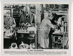 """III. Reich - gedrucktes Pressefoto """" In einer Porzellanklinik """" 23.5.1944"""