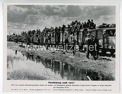 """III. Reich - gedrucktes Pressefoto """" Verstärkung nach vorn! """" 29.8.1944"""