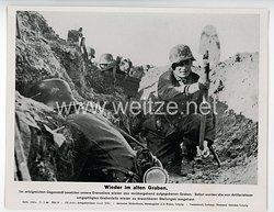 """III. Reich - gedrucktes Pressefoto """" Wieder im alten Graben """" 11.7.1944"""