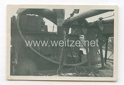 III. Reich Foto, Bombentreffer auf MS Tango Dezember 1944 in Danzig