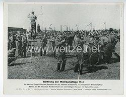 """III. Reich - gedrucktes Pressefoto """" Eröffnung der Wehrkampftage 1944 """" 8.8.1944"""