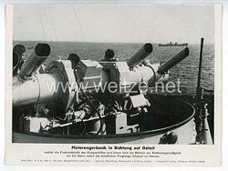 """III. Reich - gedrucktes Pressefoto """" Motorengeräusch in Richtung auf Geleit """" 30.6.1944"""
