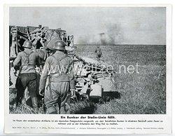 """III. Reich - gedrucktes Pressefoto """" Ein Bunker der Stalin - Linie fällt """" 28.7.1943"""