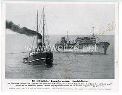 """III. Reich - gedrucktes Pressefoto """" Ein erfreulicher Zuwachs unserer Handelsflotte """" 3.3.1941"""