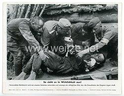 """III. Reich - gedrucktes Pressefoto """" So sieht es in Wirklichkeit aus! """" 28.7.1941"""