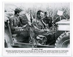 "III. Reich - gedrucktes Pressefoto "" Ein guter Fang! "" 25.8.1941"